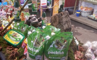 'Peckish' bird food now on sale, here at New Coley.